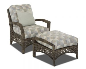 Klaussner Amure Chair & Ottoman-0