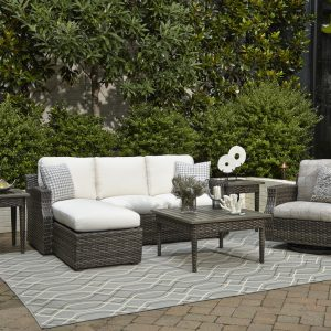 Klaussner Cascade 2pc Sectional & Glider-0