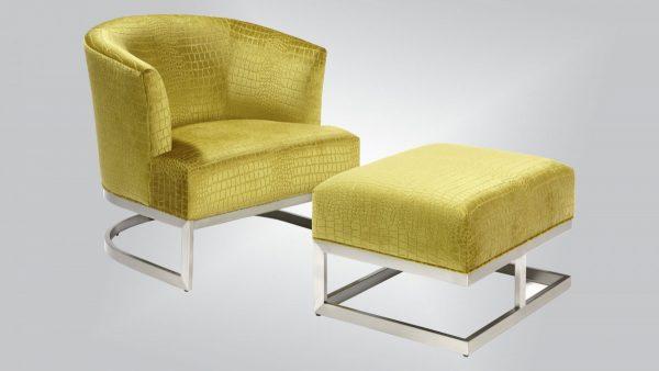 Burton James 1526 Chair and Ottoman-0