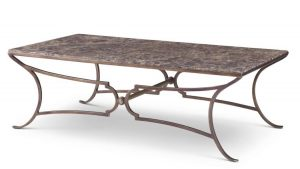 Century 89A Metal Cocktail Table with Marble Top-0