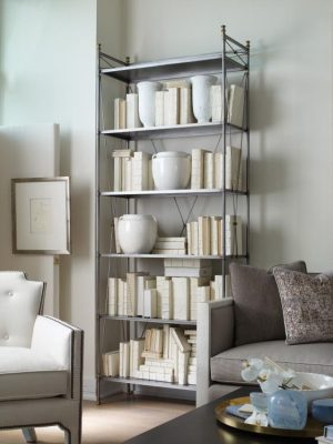 Century 89A Pewter and Brass Etagere-0