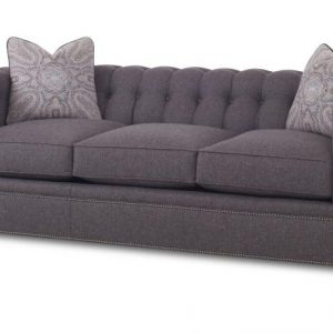 Century Modern Gray Chesterfield Sofa-0