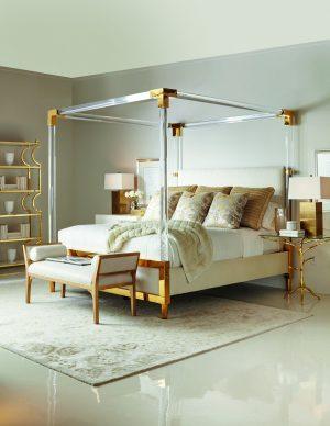 Bernhardt Aiden Acrylic canopy bed-0