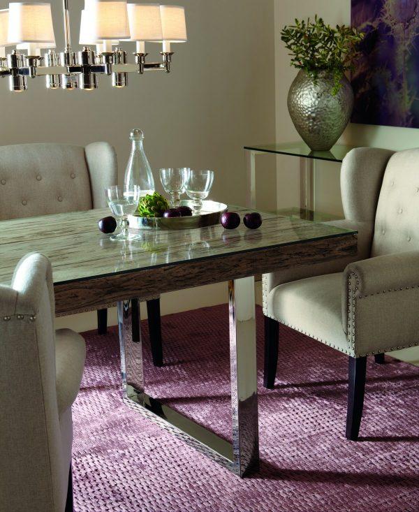 Bernhardt Henley Glass Dining Table-0