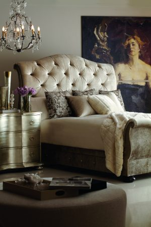 Bernhardt Kashmir Sleigh Bed-0