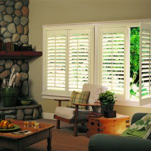 Hunter Douglas NewStyle Hybrid Shutters Living Room-0