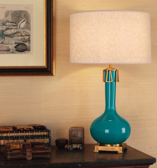 Robert Abbey Teal Lamp pc992-0